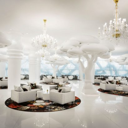 Mondrian Doha hotel by South West Architecture with interiors by Marcel Wanders