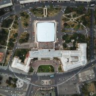 Andrew Herzog paints 1,000-metre white circle around Romanian National Museum of Art