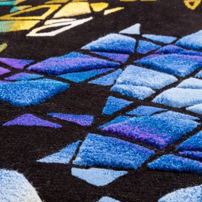 Zaha Hadid's distinctive architecture is translated into carpet designs