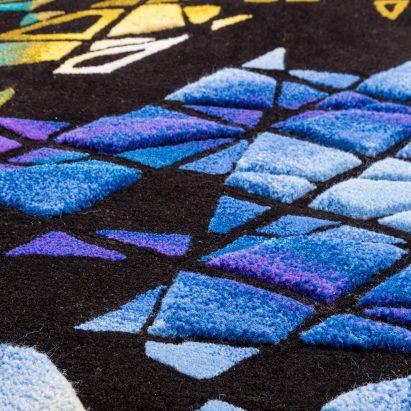 Zaha Hadid's distinctive architecture is translated into carpet designs