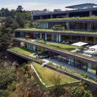Grass terraces zigzag up Sordo Madaleno Arquitectos' Mexico City apartments