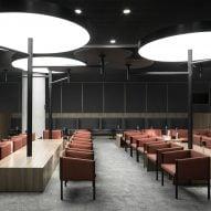 Francesc Rifé Studio designs greyscale Avianca Lounges at Bogotá airport