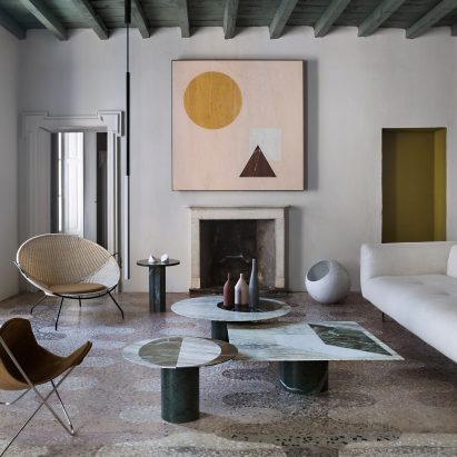 Casa Salvatori In Milan Brings Together Marble Furnishings And Flecked  Terrazzo Floors