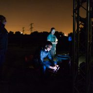Daan Roosegaarde's UFO-like light installation tracks pieces of space waste in real time