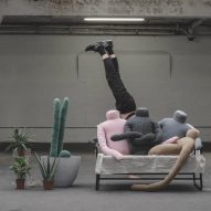Headless human-shaped pillow by Aseptic Studio designed to reduce urban loneliness