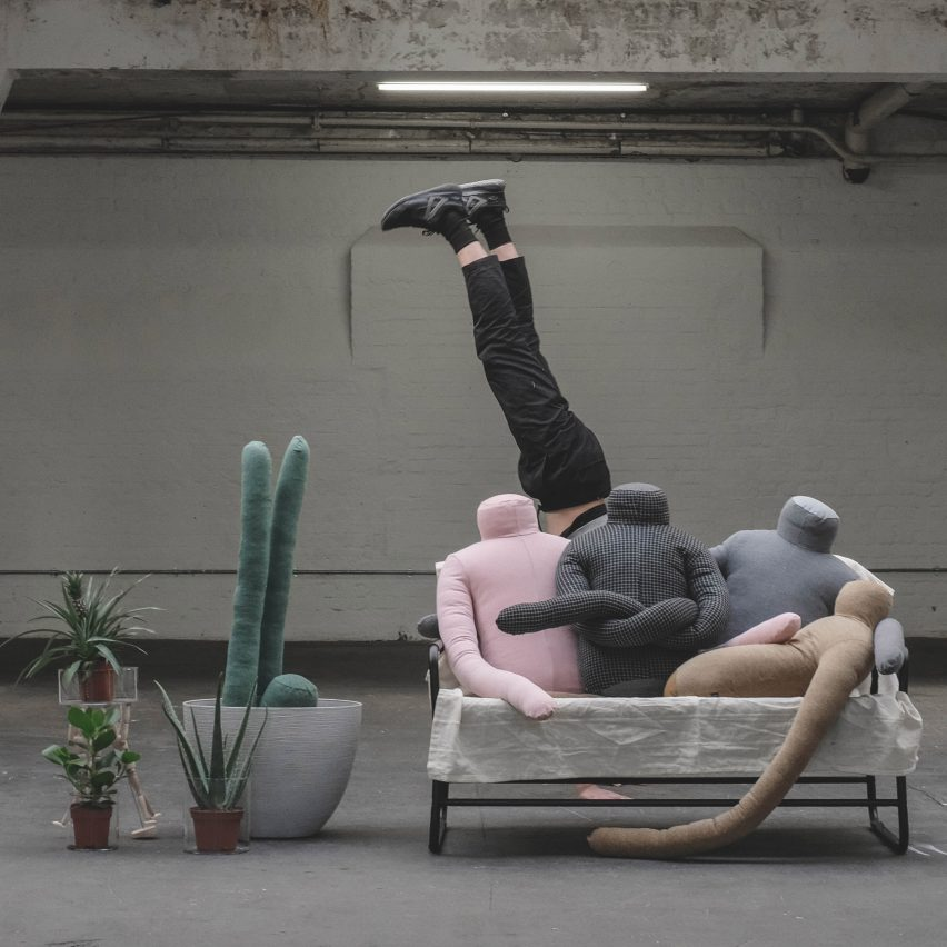 Aseptic Studio creates headless man-shaped pillow to reduce loneliness