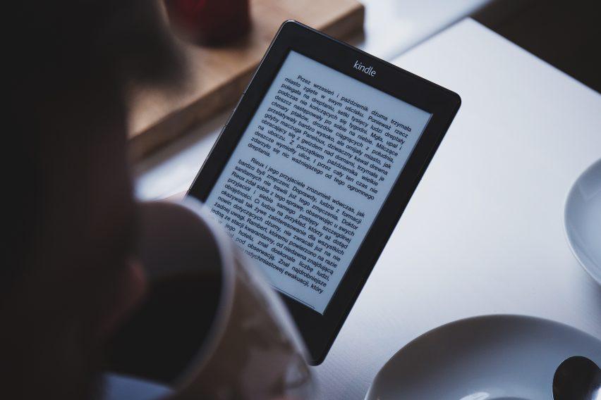 Kindle e-readers use e-paper