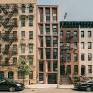 Brickwork fronts slender East Harlem residential building by Robert Marino and Leehong Kim