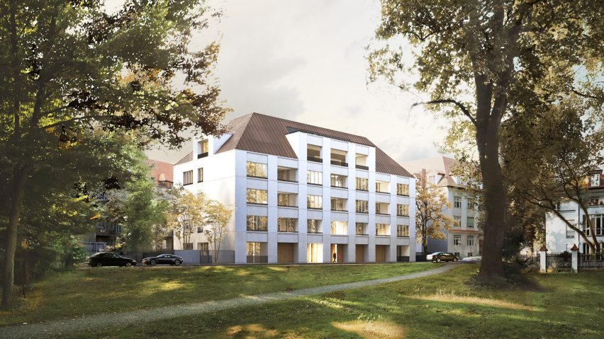 """Images revealed of David Chipperfield Architects """"city palace"""" apartments in Munich"""