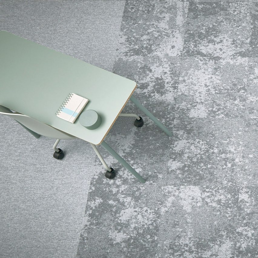 Forbo Flooring System's latest range Tessera Cloudscape is designed to mimic the clouds in the sky