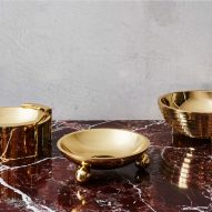 Greg Natale launches collection of decorative accessories made from marble, shell and brass
