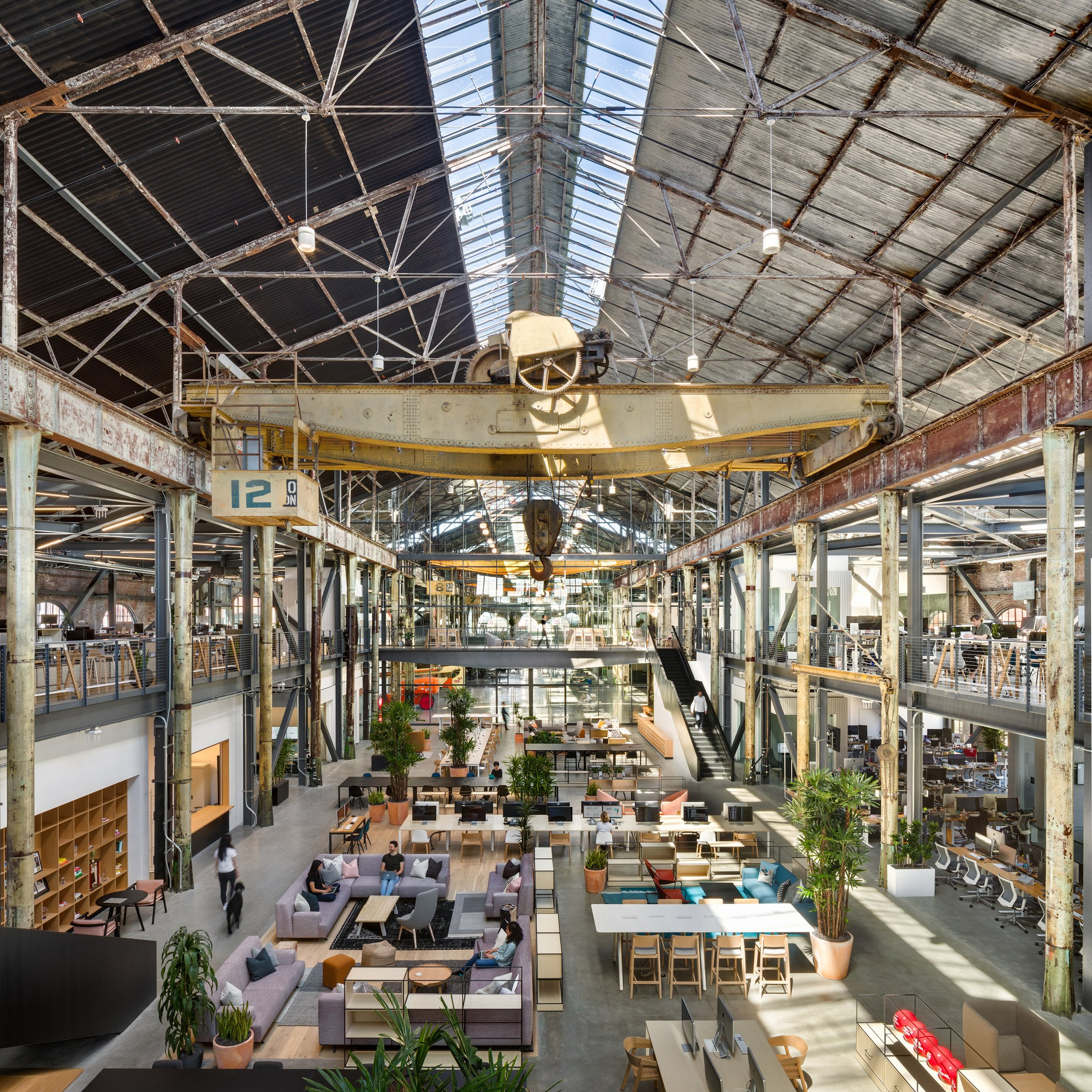 Vast warehouse at San Francisco's Pier 70 becomes Gusto headquarters by Gensler