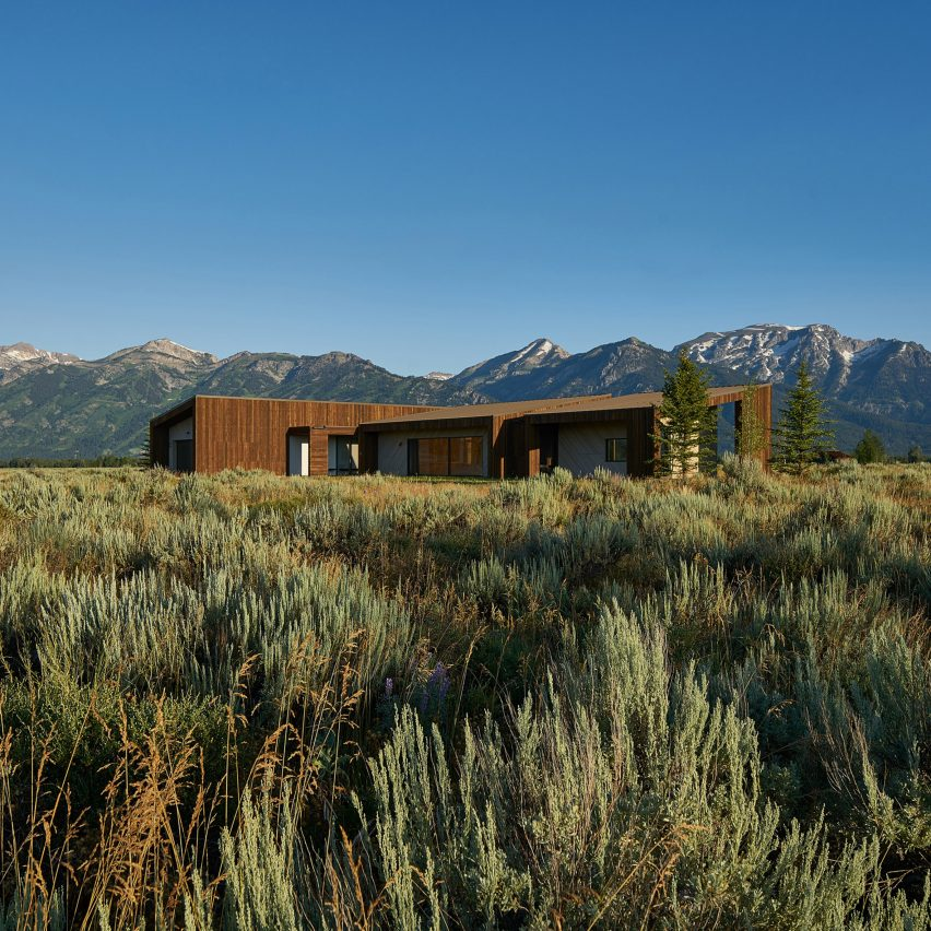 House of Fir by kt814 Architecture sits among sagebrush in rural Wyoming