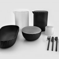 "Joe Doucet designs 3D-printed vessels to ""represent dining in the 21st century"""