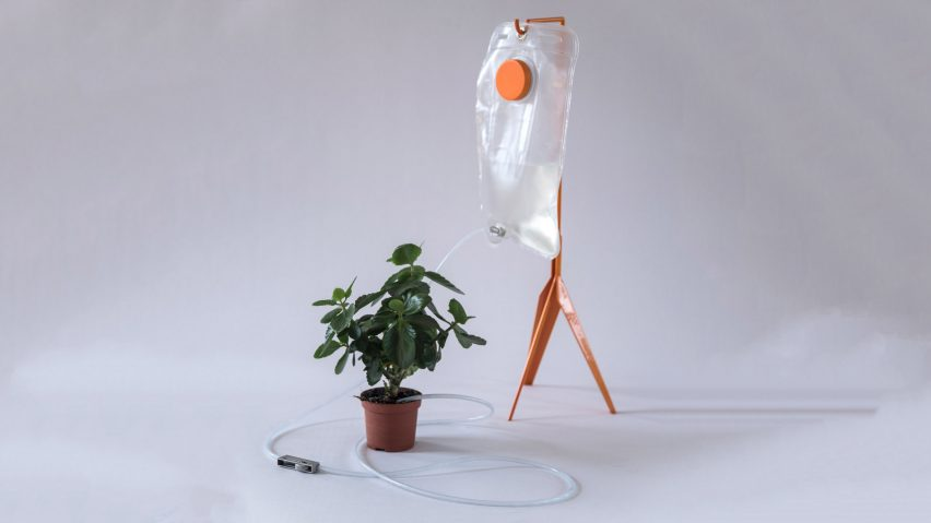 Indoor watering system brings thirsty houseplants back from the brink
