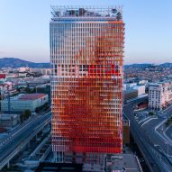Jean Nouvel completes red, white and blue skyscraper La Marseillaise