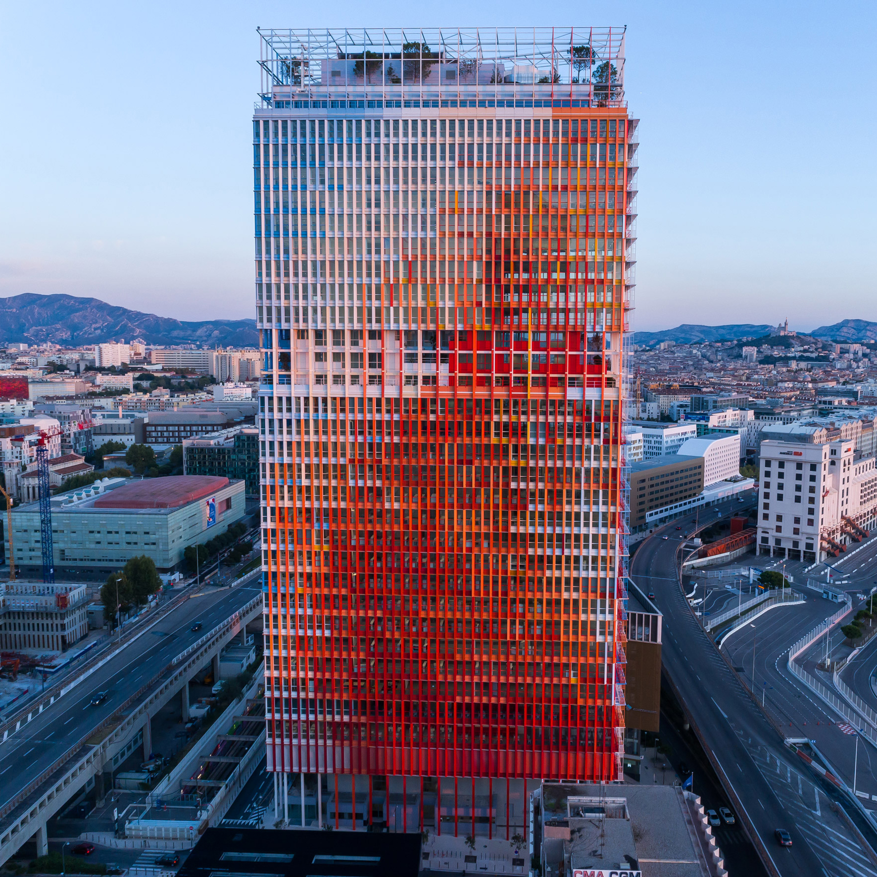Jean Nouvel Completes Red White And Blue Skyscraper La Marseillaise
