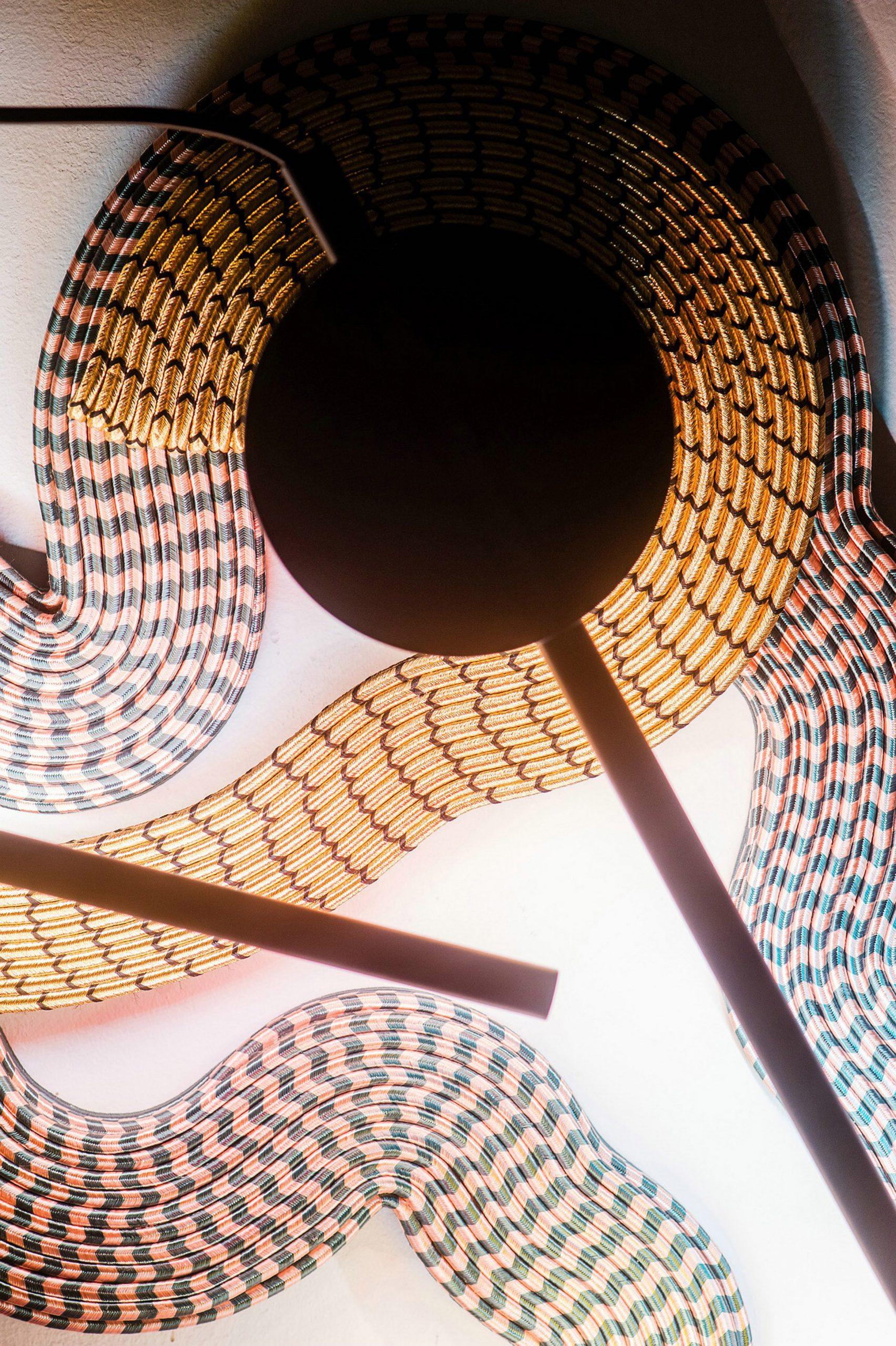 Светильники из костюмной ткани