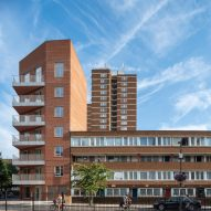 Bell Phillips adds red brick social housing block to south London estate
