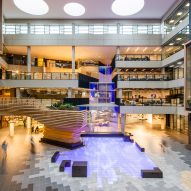 Gensler and RKD Architects create digital waterfall for Microsoft Ireland's HQ
