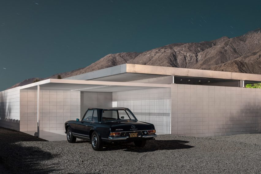 Modernist house in Palm Springs, photographed by Tom Blachford