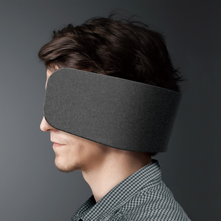 Dezeen's top 10 controversial stories of 2018: Panasonic's human blinkers help people concentrate in open-plan offices