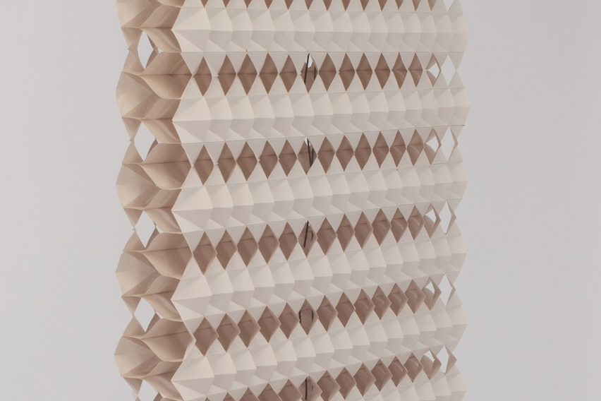 Kingston graduate invents blinds made from folded recycled paper