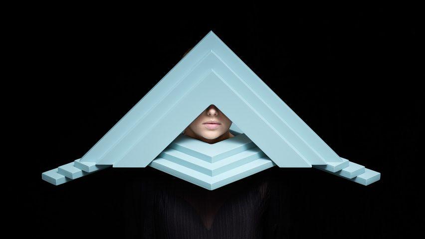 Siba Sahabi's Persona masks look like wearable architecture models