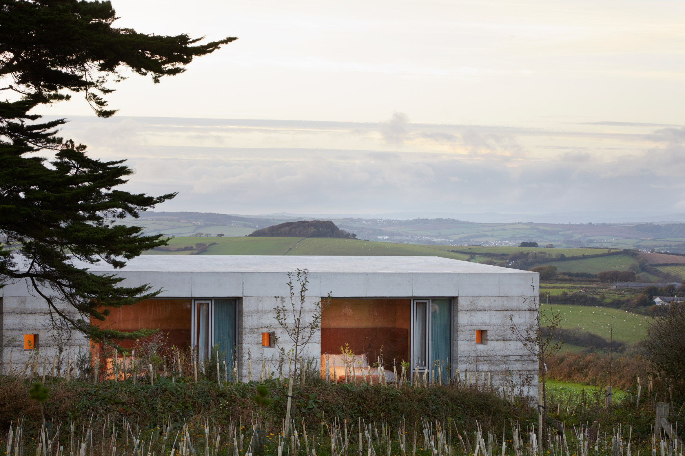 """Peter Zumthor completes Devon countryside villa, Secular Retreat, """"in the tradition of Andrea Palladio"""""""