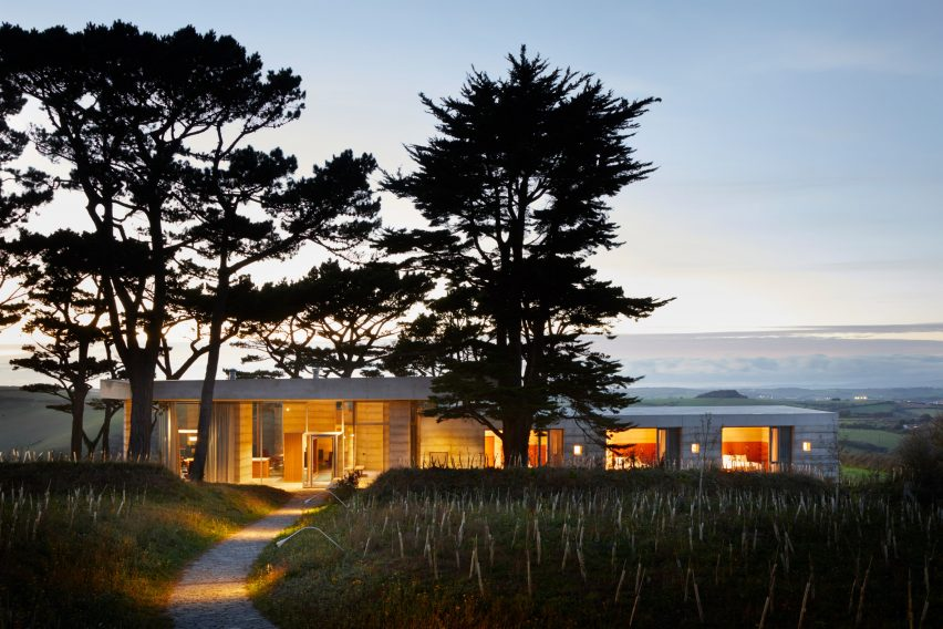 "Peter Zumthor completes Devon countryside villa, Secular Retreat, ""in the tradition of Andrea Palladio"""