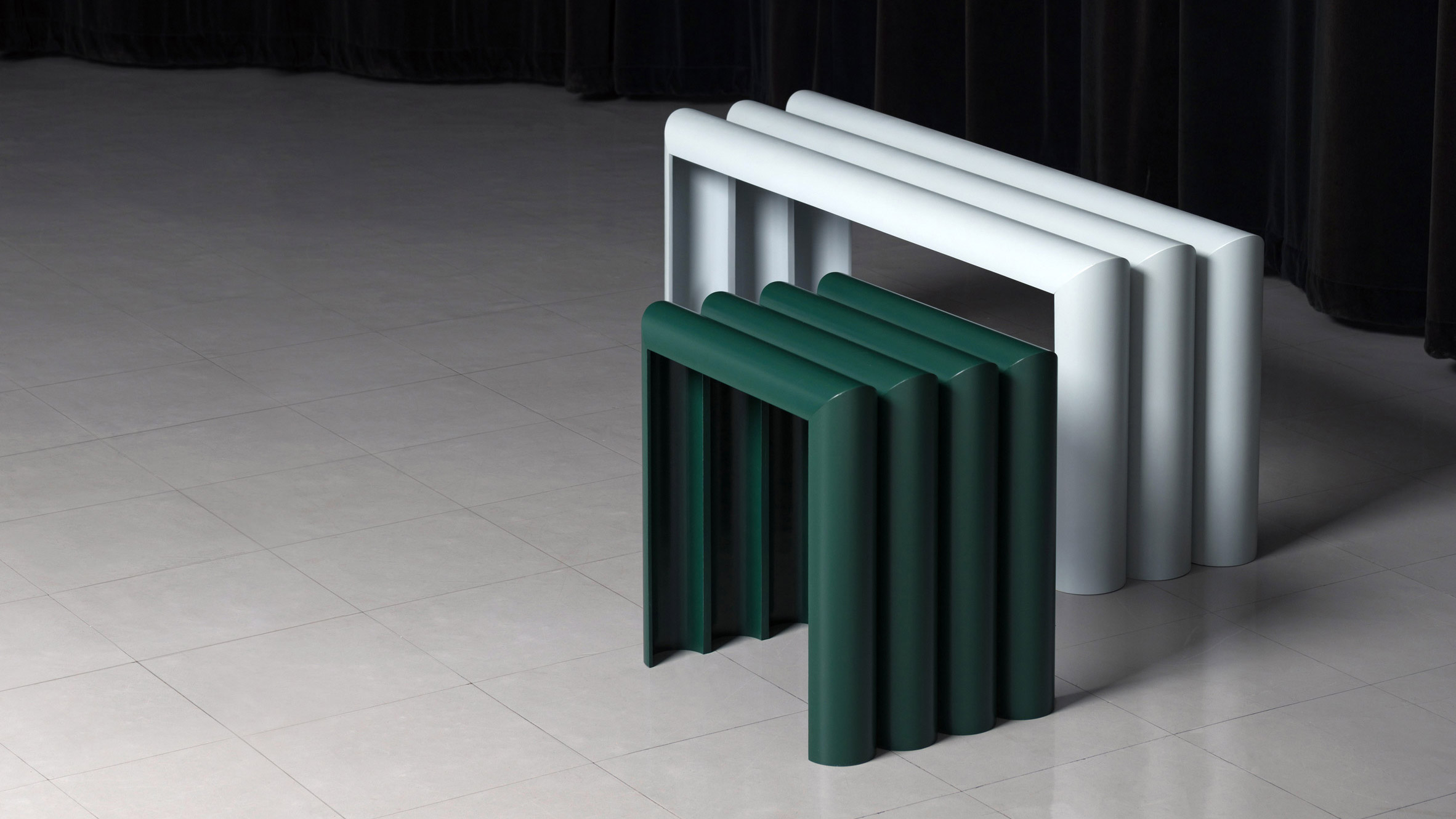 Phan Thao Dang transforms sewage pipes into graphical furniture items
