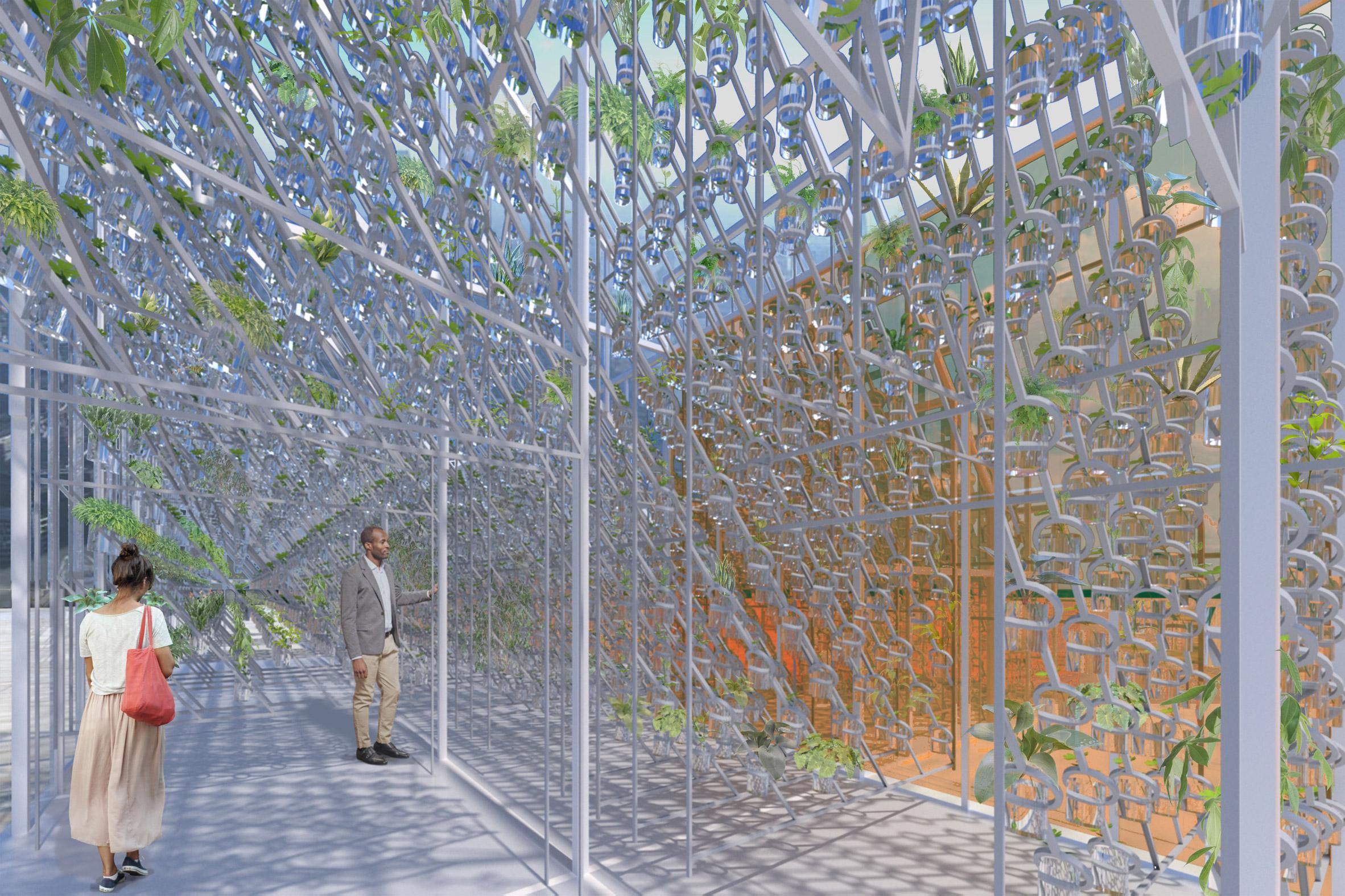 Marjan van Aubel's self-powering rooftop greenhouses aim to solve food shortages