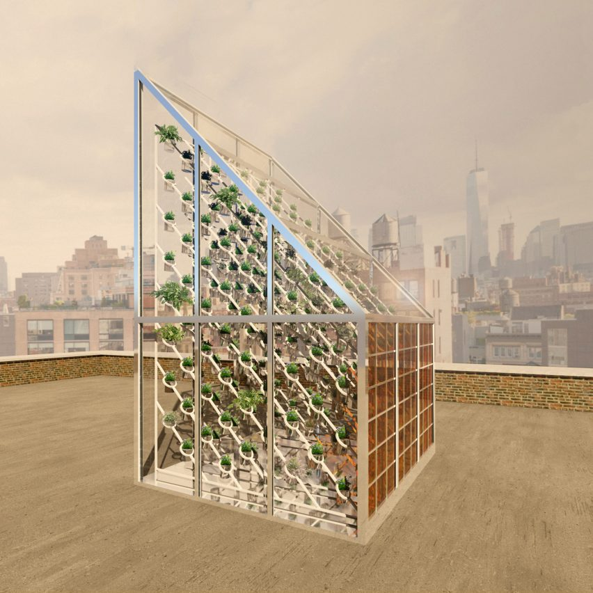 Marjan van Aubel's self-powering rooftop greenhouses aim to solve food shortages