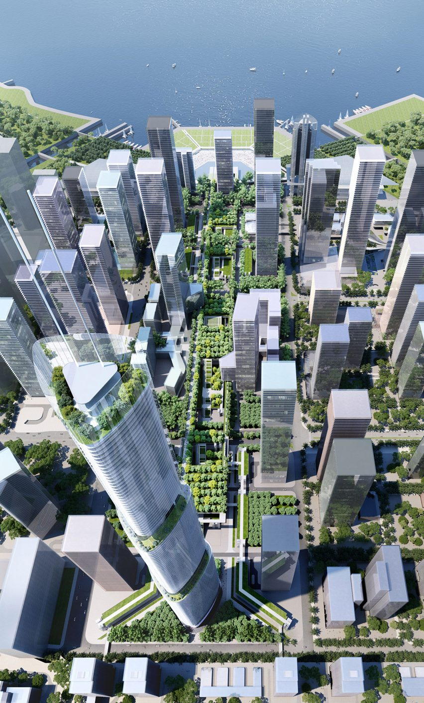 Qianhai masterplan by Rogers Stirk Harbour and Partners