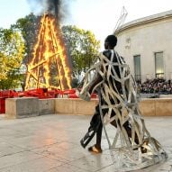 Rick Owens sets runway on fire at Paris Fashion Week show
