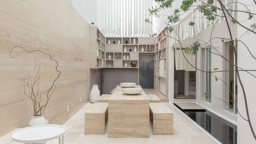 ryo kan hotel blends mexican materials and japanese traditions rh dezeen com cotton house hotel designer design house like a hotel