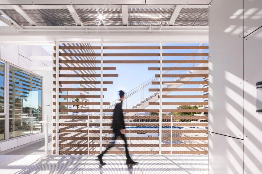 cfe01f51413d Slats shade LOHA's San Vicente 935 apartments in West Hollywood