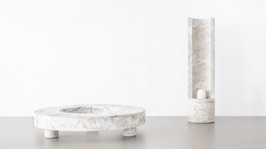 Merveilleux Pigmented Concrete Emulates Sculptural Stone In Gestalt Furniture By Sment