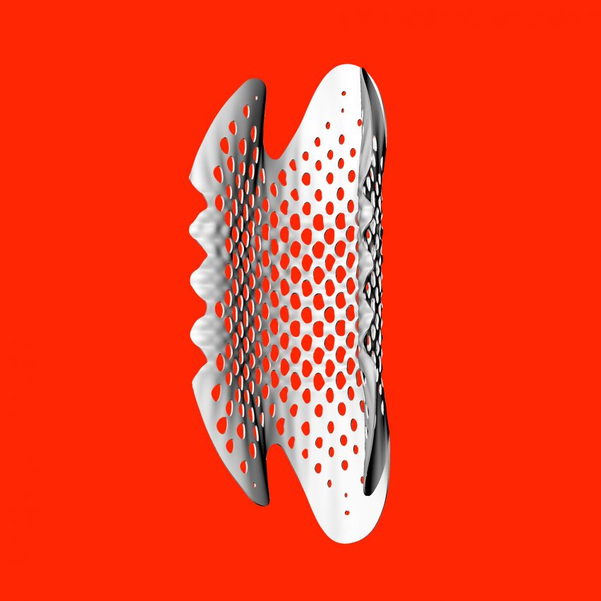 Tonkin Liu shrink their architectural shell lace structure for prototype windpipe stent