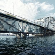Urban Nouveau wants to save Stockholm's Gamla Lidingöbron bridge by building homes in it