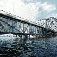 Urban Nouveau wants to save Stockholm's Gamla Lidingöbron bridge by building homes in it