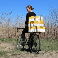 VeloMed plastic mesh helps volunteers transport seven times as many medicine boxes
