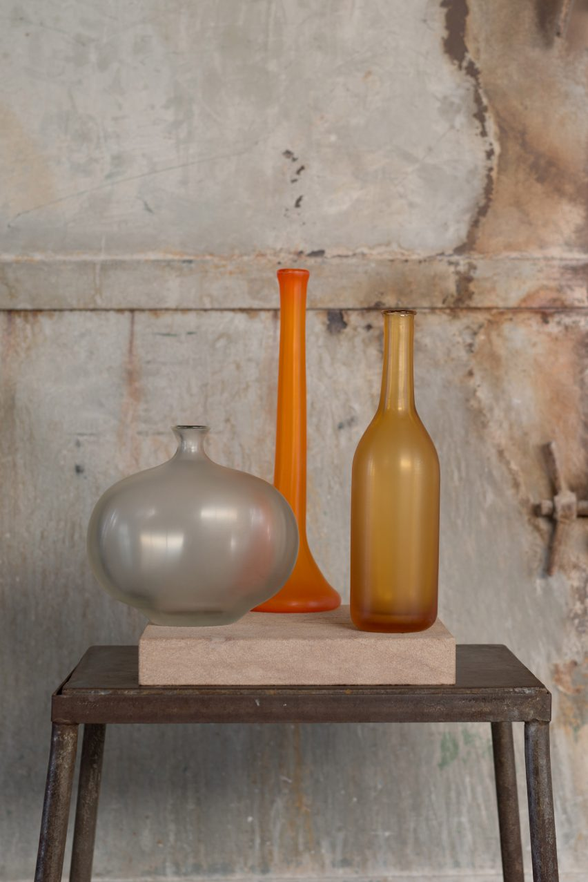 Matteo Thun creates a limited edition series of opaque vessels for Venini