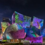 Frank Gehry's Walt Disney Concert Hall illuminates with dream-like visuals