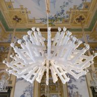 Prague designers grow a chandelier using a mineral crystallisation process