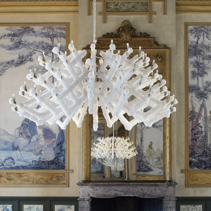 Prague designers grow a chandelier using a mineral crystallisation process