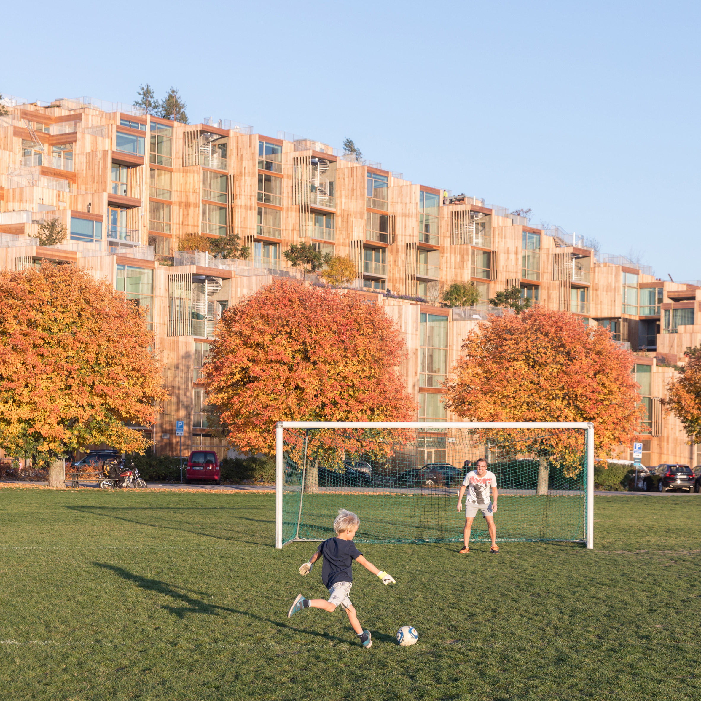 BIG's 79 & Park housing in Stockholm is designed to look
