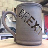 """I'm not a political person"" says potter behind unusable Brexit mug"