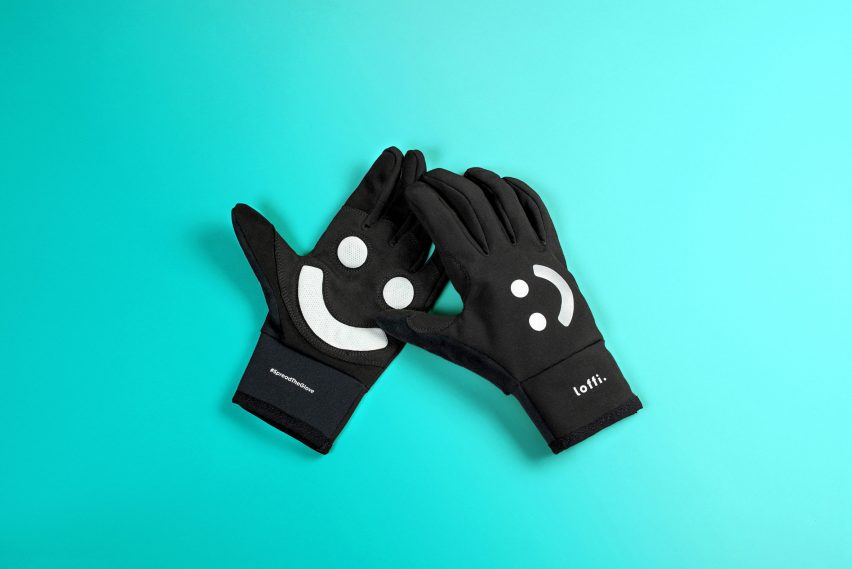 "Loffi's smiley cycling glove combats the ""complex issue"" of road rage"