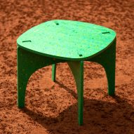 Luken flat-pack furniture is made from recycled plastic bottles in Mexico